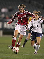 06 November,  2004. Denmark's Louise Hansen (6) sprints with the ball  at  Lincoln Financial Field in Philadelphia, Pa.