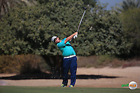 George Coetzee (RSA) plays up the 3rd during the Final Round of the 2016 Omega Dubai Desert Classic, played on the Emirates Golf Club, Dubai, United Arab Emirates.  07/02/2016. Picture: Golffile | David Lloyd<br /> <br /> All photos usage must carry mandatory copyright credit (&copy; Golffile | David Lloyd)