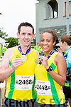 John O'Mahony Killarney and Michelle Clarke Dublin at the end of the Killarney Run half marathon in the Gleneagle Hotel on Saturday