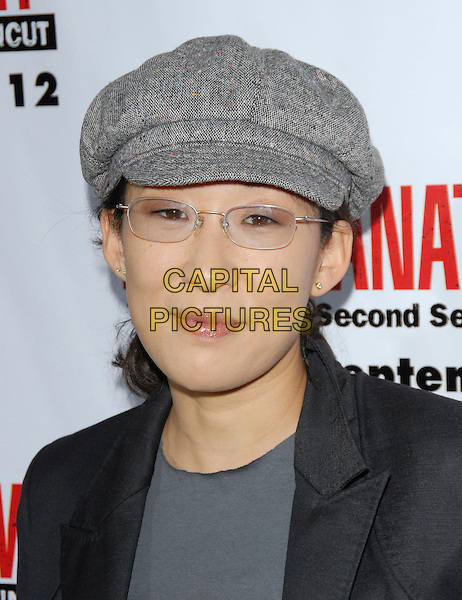 SANDRA OH.The Grey's Anatomy 2nd Season DVD Launch held at Social in Hollywood, California, USA..September 5th, 2006.Ref: DVS.headshot portrait grey gray hat glasses.www.capitalpictures.com.sales@capitalpictures.com.©Debbie VanStory/Capital Pictures