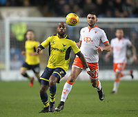 Blackpool's Colin Daniel in action with Oxford United's Dwight Tiendalli<br /> <br /> Photographer Mick Walker/CameraSport<br /> <br /> The EFL Sky Bet League One - Oxford United v Blackpool - Saturday 6th January 2018 - Kassam Stadium - Oxford<br /> <br /> World Copyright &copy; 2018 CameraSport. All rights reserved. 43 Linden Ave. Countesthorpe. Leicester. England. LE8 5PG - Tel: +44 (0) 116 277 4147 - admin@camerasport.com - www.camerasport.com
