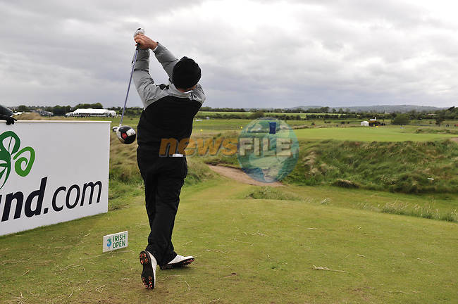 Oliver Wilson tees off on the 16th hole during Round 3 of the 3 Irish Open on 16th May 2009 (Photo by Eoin Clarke/GOLFFILE)