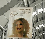 O'Hare Airport Terminal during Oprah Winfrey Mania - Farewell to The Oprah Winfrey Show after 25 Years in Chicago.