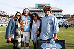 CHAPEL HILL, NC - NOVEMBER 18: UNC's Hunter Crafford was honored as part of Senior Day pregame activities. The University of North Carolina Tar Heels hosted the Western Carolina University Catamounts on November 18, 2017 at Kenan Memorial Stadium in Chapel Hill, NC in a Division I College Football game. UNC won the game 65-10.