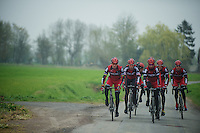Paris-Roubaix 2012 recon..training Roubaix with Team BMC