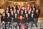 Gaelscoil Aogain, Castleisland students who were confirmed by Bishop Bill Murphy in St Stephen's and John's Church Castleisland on Friday   Copyright Kerry's Eye 2008