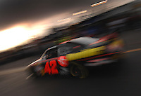 Apr 20, 2007; Avondale, AZ, USA; Nascar Nextel Cup Series driver Juan Pablo Montoya (42) during practice for the Subway Fresh Fit 500 at Phoenix International Raceway. Mandatory Credit: Mark J. Rebilas