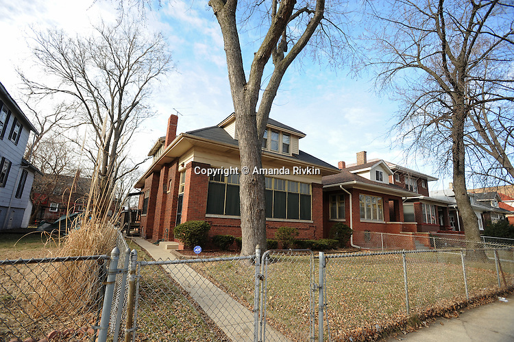 Michelle Obama's family's house on South Euclid in the South Shore neighborhood of Chicago, Illinois on January 2, 2008.  Michelle Obama, wife of U.S. President Elect Barack Obama, was raised in a modest bungalow in the South Shore neighborhood on the South Side of Chicago.
