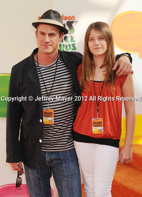 LOS ANGELES, CA - MARCH 31: Christopher Meloni arrives at the 2012 Nickelodeon Kids' Choice Awards at Galen Center on March 31, 2012 in Los Angeles, California.