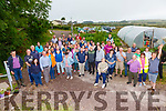 Large attendance for the Kerry Social Farming Farm Walk at Dessie Cronin's Farm in Ballinskelligs with host farmers from around the county, participants and staff from Kerry Parents & Friends, St John of Gods, Down Syndrome Kerry, Cunamh Iveragh & SKDP.