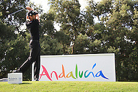 Gregory Bourdy (FRA) during the 1st day at the  Andalucía Masters at Club de Golf Valderrama, Sotogrande, Spain. .Picture Fran Caffrey www.golffile.ie
