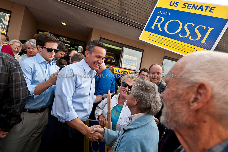 10/12/2010--Everett, WA, USA..US Senate Republican candidate from Washington State, Dino Rossi, attended supporters rally in Everett, WASH. Rossi faces off against Washington's 3 term Democrat senator Patty Murray in November elections...©2010 Stuart Isett. All rights reserved.
