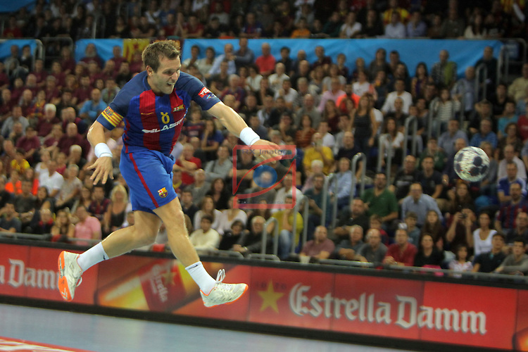 VELUX EHF <br /> 2016/17 EHF Men's Champions League Group Phase - Round 5.<br /> FC Barcelona Lassa vs Telekom Veszprem: 26-23.<br /> Victor Tomas.