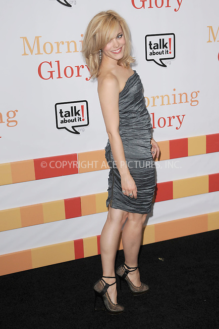 WWW.ACEPIXS.COM . . . . . .November 7, 2010...New York City....Rachel McAdams attends the 'Morning Glory' world premiere at the Ziegfeld Theatre on November 7, 2010 in New York City.....Please byline: KRISTIN CALLAHAN - ACEPIXS.COM.. . . . . . ..Ace Pictures, Inc: ..tel: (212) 243 8787 or (646) 769 0430..e-mail: info@acepixs.com..web: http://www.acepixs.com .
