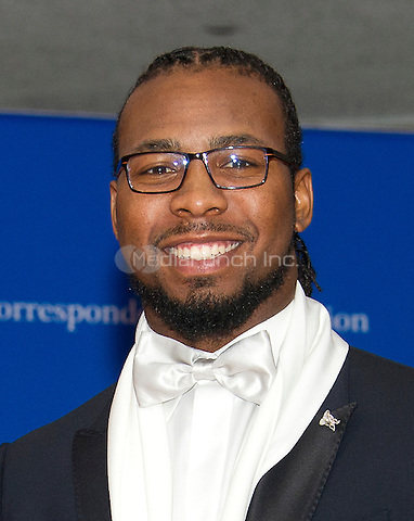 Newly signed Washington Redskins cornerback Josh Norman arrives for the 2016 White House Correspondents Association Annual Dinner at the Washington Hilton Hotel on Saturday, April 30, 2016.<br /> Credit: Ron Sachs / CNP<br /> (RESTRICTION: NO New York or New Jersey Newspapers or newspapers within a 75 mile radius of New York City)/MediaPunch