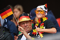 20190612 - VALENCIENNES , FRANCE : illustration picture shows the fans during the female soccer game between Germany  and Spain  , the second game for both teams in group B during the FIFA Women's  World Championship in France 2019, Wednesday 12 th June 2019 at the Stade du Hainaut Stadium in Valenciennes , France .  PHOTO SPORTPIX.BE | DIRK VUYLSTEKE