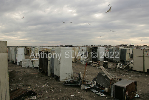 New Orleans, Louisiana.February 23, 2006..The main Katrina dump site in East New Orleans.