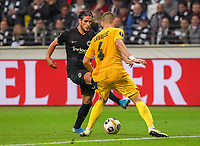Goncalo Paciencia (Eintracht Frankfurt) gegen Dimitri Lavalee (Standard Lüttich, R. Standard de Liege) - 24.10.2019:  Eintracht Frankfurt vs. Standard Lüttich, UEFA Europa League, Gruppenphase, Commerzbank Arena<br /> DISCLAIMER: DFL regulations prohibit any use of photographs as image sequences and/or quasi-video.