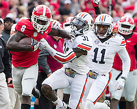 Athens, GA - November 12, 2016: The University of Georgia Bulldogs play the number 9 ranked Auburn Tigers at Sanford Stadium.