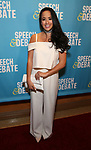 Courtney Reed attends Broadway Red Carpet Premiere of 'Speech & Debate'  at the American Airlines Theatre on April 2, 2017 in New York City.