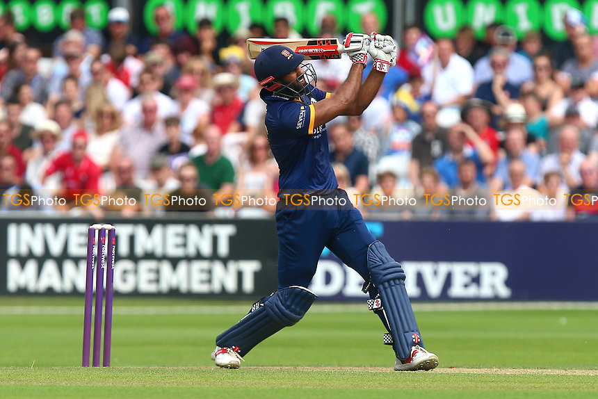 Varun Chopra hits six runs for Essex during Essex Eagles vs Glamorgan, NatWest T20 Blast Cricket at The Cloudfm County Ground on 16th July 2017