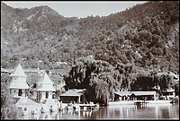 BNPS.co.uk (01202 558833)<br /> Pic: CanterburyAuctionGalleries/BNPS<br /> <br /> Naini Tal Hindu Temple bathing sheds.<br /> <br /> A Scottish photographer's stunning collection of photos of India and Afghanistan in the 1880s have been unearthed after 130 years.<br /> <br /> G.W Lawrie set up a studio in Lucknow, northern India in the 1880s and took captivating black and white photos of his new surroundings.<br /> <br /> Included in the collection of 40 photos are views of lavish temples including the King of Oudh's palace in Lucknow, opulent buildings and beautiful scenery.<br /> <br /> However, Lawrie was also interested in the native population and took photos of them going about their everyday lives.