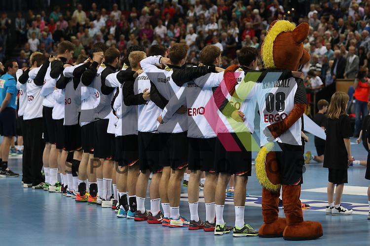 Kiel, 14.06.15, Sport, Handball, L&auml;nderspiel, EM-Qualifikation, Deutschland - &Ouml;sterreich :<br /> <br /> Foto &copy; P-I-X.org *** Foto ist honorarpflichtig! *** Auf Anfrage in hoeherer Qualitaet/Aufloesung. Belegexemplar erbeten. Veroeffentlichung ausschliesslich fuer journalistisch-publizistische Zwecke. For editorial use only.