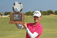 Cheyenne Knight (USA) with the trophy for winning the 2019  Volunteers of America Texas Classic, the Old American Golf Club, The Colony, Texas, USA. 10/6/2019.<br /> Picture: Golffile | Ken Murray<br /> <br /> <br /> All photo usage must carry mandatory copyright credit (© Golffile | Ken Murray)