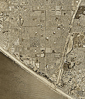 historical aerial photograph Huntington Beach, California, 1994