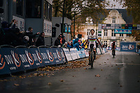 CX world Champion Sanne Cant (BEL/Iko-Beobank) finally wins her first race of the season<br /> <br /> women's race<br /> Soudal Jaarmarktcross Niel 2018 (BEL)