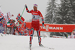 05/01/2014, Val Di Fiemme - 2014 Cross Country Ski World Cup Tour de ski <br /> Norway's Chris Jespersen at the finish of the Final Climb pursuit race in Val Di Fiemme, Italy on 05/01/2014. Therese Johaug from Norway has won for the first time Tour de ski.