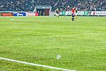 Solna 2014-03-31 Fotboll Allsvenskan AIK - IFK G&ouml;teborg :  <br /> Plastmugg mugg har kastats ut p&aring; planen av AIK supporter i den andra halvleken<br /> (Foto: Kenta J&ouml;nsson) Nyckelord:  AIK Gnaget Solna IFK G&ouml;teborg Bl&aring;vitt