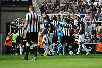 Jonjo Shelvey of Newcastle United leaves the field after being shown a straight red card during Newcastle United vs Tottenham Hotspur, Premier League Football at St. James' Park on 13th August 2017