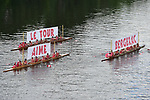 Local rowing club shows it's support for the Tour during Stage 10 of the 104th edition of the Tour de France 2017, running 178km from Perigueux to Bergerac, France. 11th July 2017.<br /> Picture: ASO/Pauline Ballet | Cyclefile<br /> <br /> <br /> All photos usage must carry mandatory copyright credit (&copy; Cyclefile | ASO/Pauline Ballet)