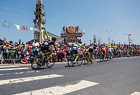 breakaway group riding along the crowds. <br /> <br /> Stage 6: Brest > Mûr de Bretagne / Guerlédan (181km)<br /> <br /> 105th Tour de France 2018<br /> ©kramon