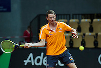 2016, 12 April, Arena Loire, Tr&eacute;laz&egrave;,  Semifinal FedCup, France-Netherlands, captain Paul Haarhuis (NED)<br /> Photo:Tennisimages/Henk Koster