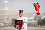Young riders White Jersey for Elie Gesbert (FRA) Team Arkea Samsic after Stage 6 of the 10th Tour of Oman 2019, running 135.5km from Al Mouj Muscat to Matrah Corniche, Oman. 21st February 2019.<br /> Picture: ASO/P. Ballet | Cyclefile<br /> All photos usage must carry mandatory copyright credit (&copy; Cyclefile | ASO/P. Ballet)