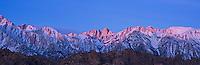 Sunrise over Mt. Whitney, Sierra Nevada mountains, California