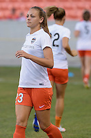 Houston, TX - Sunday June 19, 2016: Cami Privett prior to a regular season National Women's Soccer League (NWSL) match between the Houston Dash and FC Kansas City at BBVA Compass Stadium.