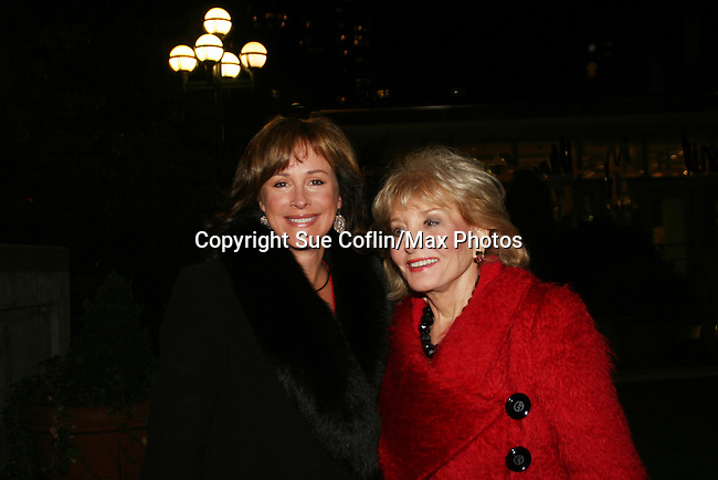 One Life To Live's Hillary B. Smith & The View's Barbara Walters at the ABC Daytime Casino Night on October 23, 2008 at Guastavinos, New York CIty, New York. (Photo by Sue Coflin/Max Photos)