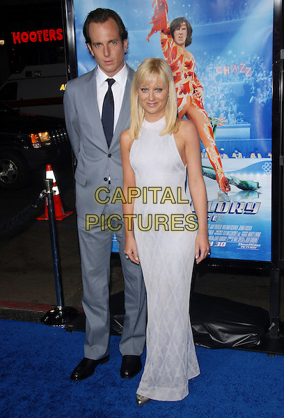 "WILL ARNETT & AMY POEHLER   .Attends The Paramount Pictures L.A. Premiere of ""Blades of Glory"" held at The Graumann's Chinese Theatre in Hollywood, California, USA. .March 28th, 2007.full length blue suit dress grey gray.CAP/DVS.©Debbie VanStory/Capital Pictures"