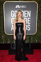 Yvonne Strahovski arrives at the 75th Annual Golden Globe Awards at the Beverly Hilton in Beverly Hills, CA on Sunday, January 7, 2018.<br /> *Editorial Use Only*<br /> CAP/PLF/HFPA<br /> &copy;HFPA/Capital Pictures