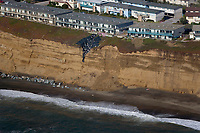 aerial photograph erosion Daly City South San Francisco, San Mateo county, California