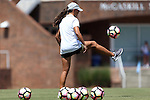 21 August 2016: UCF head coach Tiffany Roberts Sahaydak. The Duke University Blue Devils played the University of Central Florida Knights in a 2016 NCAA Division I Women's Soccer match. Duke won the game 3-1.