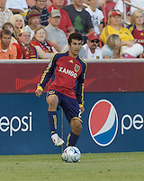 Real Salt Lake defender Tony Beltran (2) controls the ball; Salt Lake Real defeated Toronto FC, 3-0, at Rio Tinto Stadium on June 27, 2009.