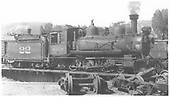 RGS 4-6-0 #22 on Ridgway turntable.<br /> RGS  Ridgway, CO  8/1939