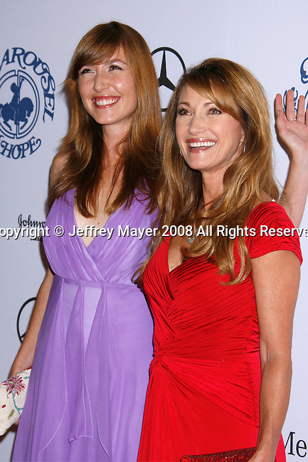 BEVERLY HILLS, CA. - October 25: Actress Jane Seymour (R) and Daughter Katie Flynn  arrive at The 30th Anniversary Carousel Of Hope Ball at The Beverly Hilton Hotel on October 25, 2008 in Beverly Hills, California.