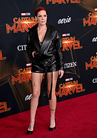 "LOS ANGELES, CA. March 04, 2019: Halsey at the world premiere of ""Captain Marvel"" at the El Capitan Theatre.<br /> Picture: Paul Smith/Featureflash"
