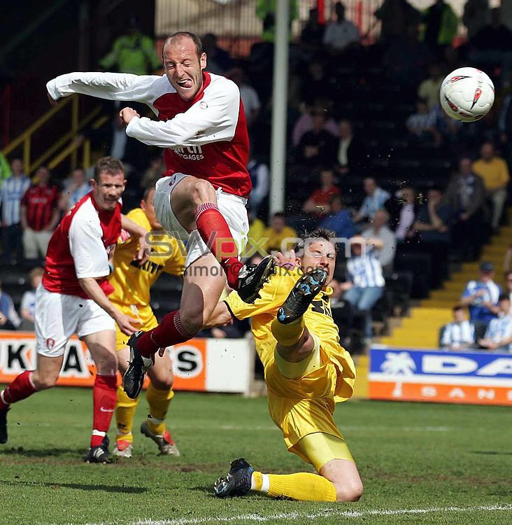 PIX: Paul Wickson/SWPix... Coca Cola Championship.. Rotherham v Brighton... 30.04.2005...COPYRIGHT PICTURE>>SIMON WILKINSON>>01943 608782..Rotherham's John Mullin goes closest for Rotherham against Brighton
