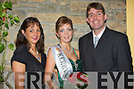 Newly crowned Kerry Rose Katie Nolan with jewellery sponsors Norma Connelly and Martin Hartnett of Connelly's Jewellers, Tralee, pictured at the 2008 Kerry Rose Selection in The Earl of Desmond Hotel on Saturday night. Connelly's Jewellers provided a piece as a prize and are loaning jewellery for the finals.......   Copyright Kerry's Eye 2008